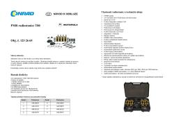 PMR radiostanice T80 Obj. č. 123 26 65