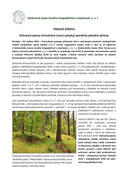 Ochranná pásma chráněných území vyžadují specifický pěstební