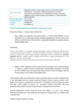 Zásadní konkrétní připomínky k jednotlivým ustanovením návrhu