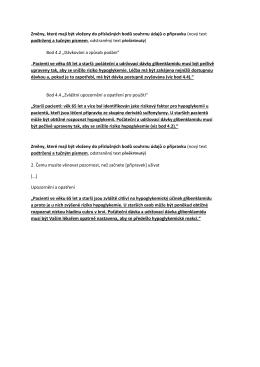 Aktualizace informací o přípravku u přípravků obsahujících léčivou