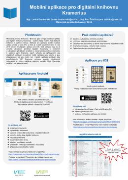 Představení Aplikace pro Android Aplikace pro iOS Proč mobilní