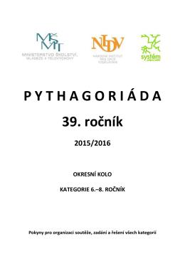 Zadání a řešení okresního kola Pythagoriády – 6.