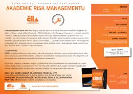 akademie risk managementu - Český institut interních auditorů