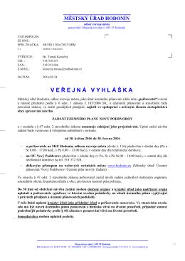 projednávání návrhu zadání ÚP Nový Poddvorov