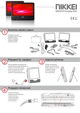 Propojení obrazovek Kontrola obsahu balení Připojení CL