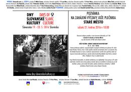 pozvánka na zahájení výstavy jože plečnika