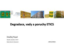 Degradace, poruchy a vady ETICS