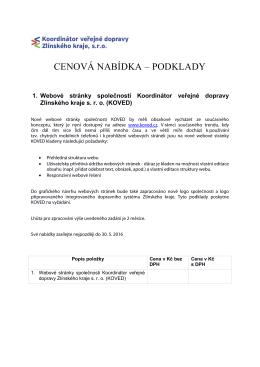 tohoto dokumentu - Koordinátor veřejné dopravy Zlínského kraje, sro