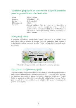 Vzdálené připojení k PLC pomocí LTE (PDF