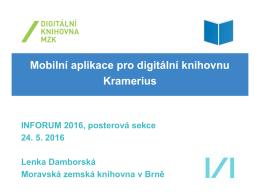 Mobilní aplikace pro digitální knihovnu Kramerius