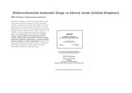 Elektrochemické testování Zinga vs žárový zinek (United Kingdom)