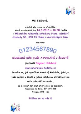 Milí lidičkové - Numerologie