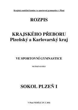 ROZPIS KRAJSKÉHO PŘEBORU Plzeňský a Karlovarský kraj