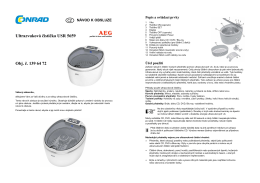 Ultrazvuková čistička USR 5659 Obj. č. 139 64 72