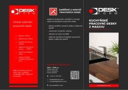 kuchyňské pracovní desky z masivu - DESK-FORM