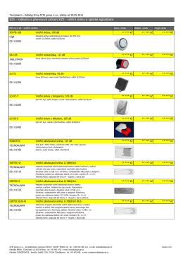 EZS - indikační a přenosová zařízení EZS - vnitřní
