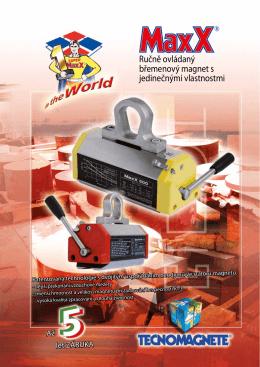 Ručně ovládaný břemenový magnet s jedinečnými