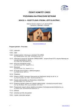 Program setkání a jak se dostat k penzionu U Bednářů