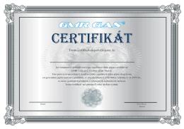 certifikát česko
