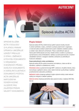 Spisová služba ACTA