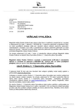 veřejná vyhláška - Hradec Králové