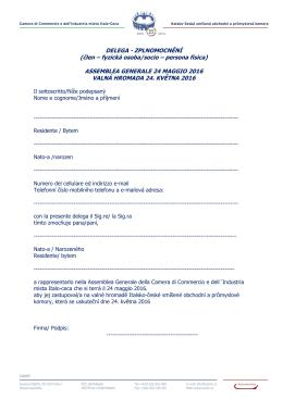modulo delega pf-formular plne moci fo - Camera Italo-Ceca