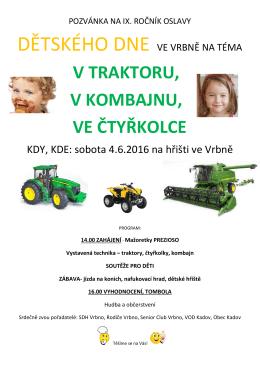 Dětský den ve Vrbně 4. 6. 2016
