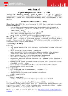 Výběrové řízení na pozici referent OŠK