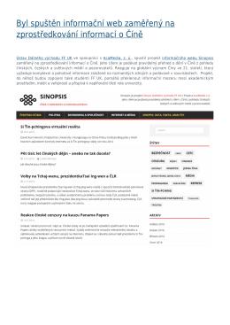 Byl spuštěn informační web zaměřený na zprostředkování informací