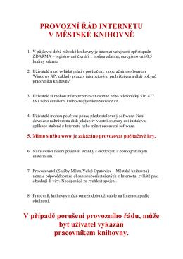 Provozní řád internetu - CZ