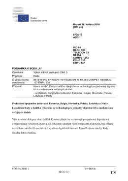 8735/16 ADD 1 lr/VHO/ds 1 DG G 3 C Prohlášení Spojeného