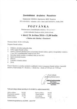 Výroční členská schůze PDF