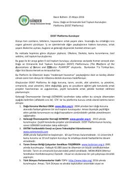 25 Mayıs-DOST Platformu-Basın Bülteni