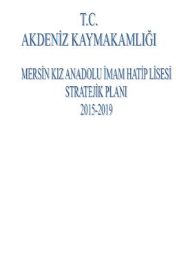 Mersin Kız Anadolu İmam Hatip Lisesi Stratejik - mersin