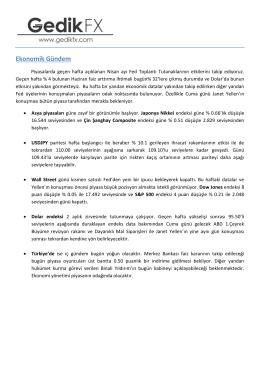 Günlük analiz - 24.05.2016