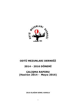 odtü mezunları derneği 2016 yılı genel kurul tutanağı
