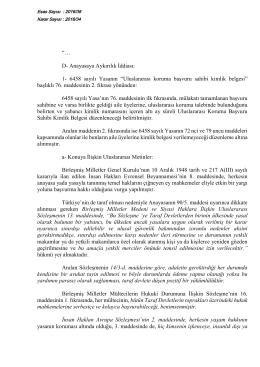 Uluslararası koruma başvuru sahibi kimlik belgesi