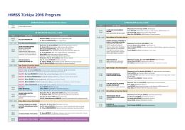 Programı İndir - HIMSS Turkey 2016
