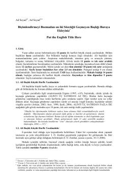 Tam Metin Şablonu - Cocuk Genclik Edebiyati 2016