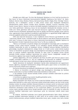 www.isguzmani.org Sayfa 1 / 3 HARCIRAH KANUNU GENEL