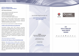 COST Fon Mekanizması, Başvuru ve Değerlendirme