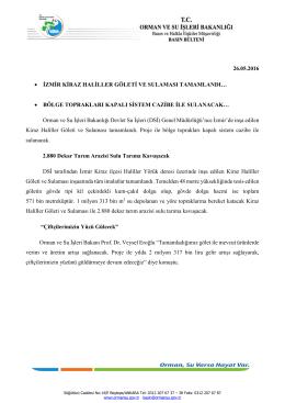 26.05.2016 • izmir kiraz haliller göleti ve sulaması tamamlandı…