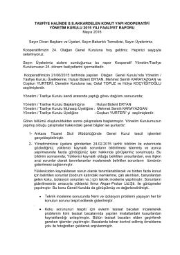 faaliyet raporu (2015) - ss akkardelen yapı kooperatifi