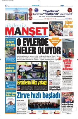 Süper Alanya - Antalya Haber - Haberler