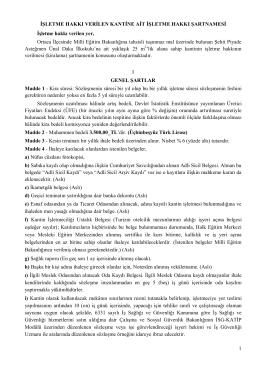 Kantin İhale Şartnamesi - Ortaca İlçe Milli Eğitim Müdürlüğü
