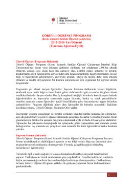 Açıklama Metni - Bilgi Üniversitesi