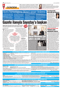 Gazete ilanıyla Sayıştay`a başkan