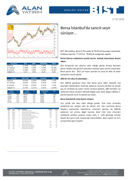 Borsa İstanbul`da sancılı seyir sürüyor