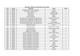 23/05/2016 tarihli il içi isteğe bağlı ihtiyaç listesi