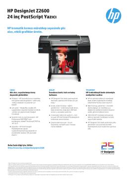 HP DesignJet Z2600 24 inç PostScript Yazıcı